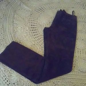 Bebe Leather Suede Pant